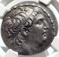 ANTIOCHOS VII Sidetes Seleukid Ancient Silver Greek TETRADRACHM Coin NGC i68736