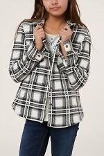 O'Neill FUN TIMES Girls Youth Snap Front Super Fleece Shirt Medium Off White NEW