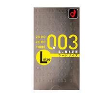 USA Seller Japanese Okamoto 003 0.03 Condom Ultra Thin Large L Size 10 Packs