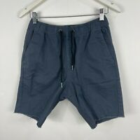 Zanerobe Mens Shorts Small Grey Elastic Waist Drawstring Pockets