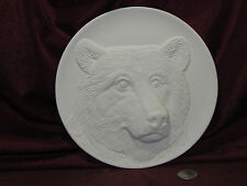 Ceramic Bisque Bear Plate U-Paint Ready to Paint Wildlife Animal