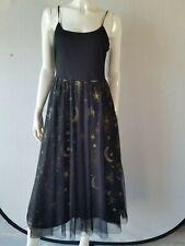 HALLHUBER Kleid Mesh Glitter schwarz Glitter Gr.36--UK8***NEU