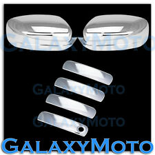 2011-2014 Dodge Charger Triple Chrome Mirror+4 Door Handle Smart Keyhole Cover