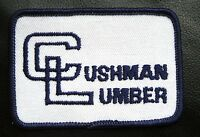 """CUSHMAN LUMBER EMBROIDERED SEW ON PATCH COMPANY BUSINESS ADVERTISING 3"""" x 2"""""""