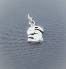 Sterling Silver Tiny Bunny Rabbit Charm, Small, Mini, Made in USA