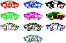 Vans of the wall Printed Stickers, 10 colours/designs avilable