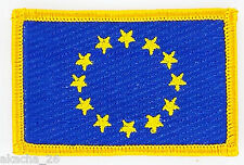 PATCH ECUSSON BRODE DRAPEAU EUROPE UE CEE INSIGNE THERMOCOLLANT NEUF FLAG