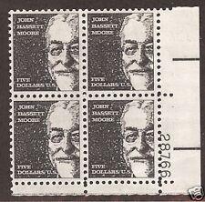 1295 Plate block $5 John Bassett Moore Legal Scholar