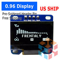 "0.96"" I2C IIC 128X64 LED OLED LCD  Display Module Arduino White Color SSD1306 US"