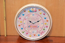 HELLO KITTY & MIMMI UHR CLOCK 37cm 6 Melodien, Sensor,LEDs JAPAN SANRIO ORIGINAL