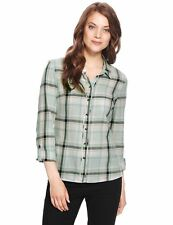Marks and Spencer Women's Check Collared Tops & Shirts