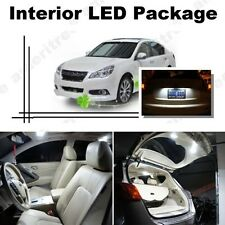 For Subaru Legacy 2004-14 Xenon White LED Interior kit + White License Light LED