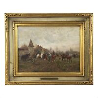 """""""The Horse Fair"""" Oil Painting by Wilhelm Velten (Russian/German, 1847-1929)"""