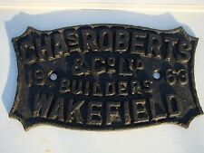 CAST IRON RAILWAY CARRIAGE WAGON IDENTIFICATION CONSTRUCTORS BUILDER PLATE 5of14