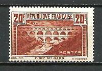 FRANCE N° 262 PONT DU GARD dentelé 13 x 13. Neuf**. Cote 550 €.  ♫♪ TOP PROMO ♪♫