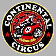CONTINENTAL CIRCUS BULTACO VINTAGE BIKER 9cm AUTOCOLLANT STICKER MOTO CA205