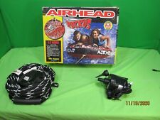 Airhead Ruckus 58 in, 1-2 person Towable Tube - Red - Pump & Rope Included
