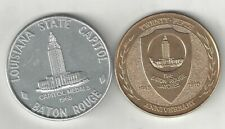 VINTAGE 1968 BATON ROUGE LOUISIANA STATE CAPITOL PELICAN MEDALS COINS MEDALLIONS