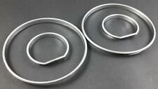 BMW E34 SILVER SATIN INSTRUMENT GAUGE RINGS DASH TRIM