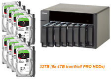 € 1895+IVA QNAP TS-851 NAS 8-Bay 32TB(8x 4TB IronWolf PRO) 2,4GHz 4GB/2xGbE/HDMI