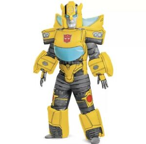 Hasbro's Transformers Boys Deluxe Bumblebee Inflatable Childrens Costume 7+ New