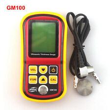 GM100 Digital LCD Ultrasonic Thickness Meter Tester Gauge Metal Testering Width