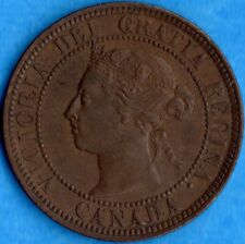 Canada 1886 1 Cent One Large Cent Coin - Nice AU