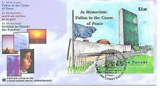 UN New York 21 Sept 1999 - FDC commem 'Fallen in the Cause of Peace'