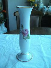 Vase,Tischvase von Fürstenberg, Rosendekor, Höhe 25,5 cm