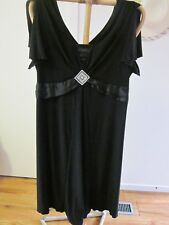 Autograph SIZE 24  , STRETCH BLACK DRESS WITH CENTRE  SILVER DECORATION
