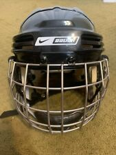 New listing Nike Bauer Nbh4500S Hockey Helmet Combo-Fm4500-Black-Used-S ize: S - 6 3/4 -7 1/8