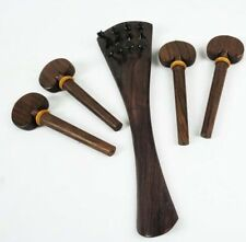 High Quqlity Dark  color Rosewood 4/4 Cello Tailpiece Pegs Full Size Cello Parts