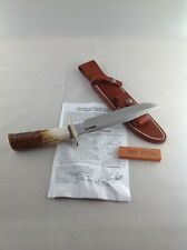 RANDALL Made KNIFE Model 1-7 Fighting/All Purpose Knife w/Stag Handle