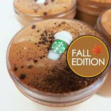 Pumpkin Spice Latte Coffee Slime (Scented) with Charm - Made in the Usa