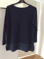 Monsoon Navy Top Size 18/20