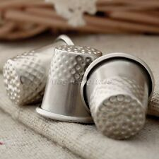 3pcs Metal Finger Thimble Grip Shield Protector Pin Needle Sewing Craft Silver