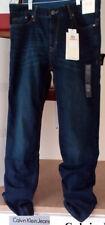 Calvin Klein Jeans Men's Straight Leg Jeans, 33x32, Dark Tinted