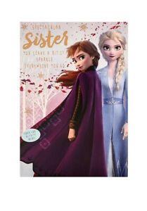 Hallmark Disney Frozen 2 Anna And Elsa Sister Birthday Card