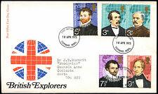 GB FDC 1973 British Explorers Stevenage FDI  #C39469