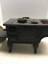 Antique Minature Cast Iron Stove By Baby