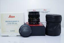 "Leica Macro-Elmarit-R 60mm f/2.8 MF ""Leica R Only"" Lens Boxed #3513329 ""MINT"""
