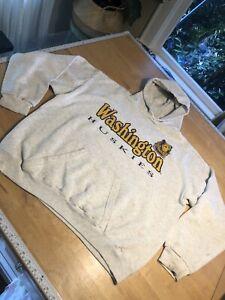 Vintage University Of Washington Huskies Hoodie Sweatshirt Sz XL USA (read)