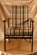 Vintage Sessel Alt Holz Braun Beige