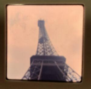 1965 Kodachrome Photo Slide 35mm Eiffel Tower Paris France Kodak Ground View