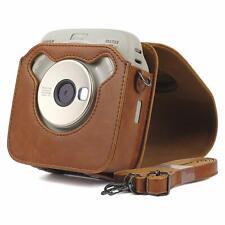 For Fujifilm Instax Square Sq20 Sq10 Camera Leather Case Bag w/ Adjustable Strap