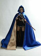 1/6 Scale Custom Made Blue & Gold Hooded Cape Only