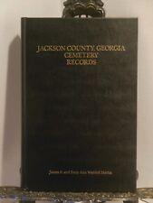 VG Jackson County Georgia Cemetery Records HB Names Birth Death Dates Genealogy