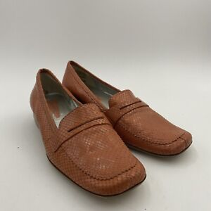 Enzo Angiolini- Massimo- Womens Reptile Leather Penny Loafer Slip-On Sz 8