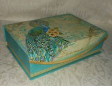 Punch Studio Vintage French Peacock Memory Gift Nesting Box NEW FREE SHIPPING