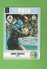 1977  PARRAMATTA EELS  SCANLENS RUGBY LEAGUE CARD  #49 JOHN QUAYLE